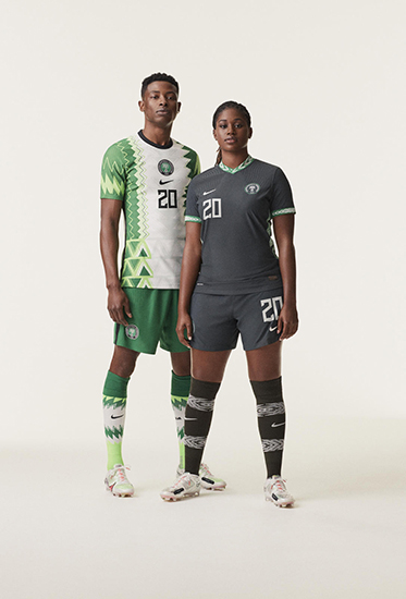 Soccer players wearing 2020 Nike Football kits