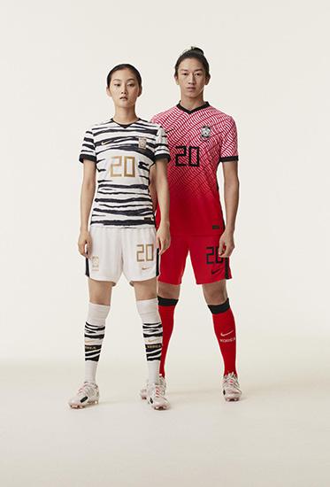 Soccer players wearing 2020 Nike Football kits