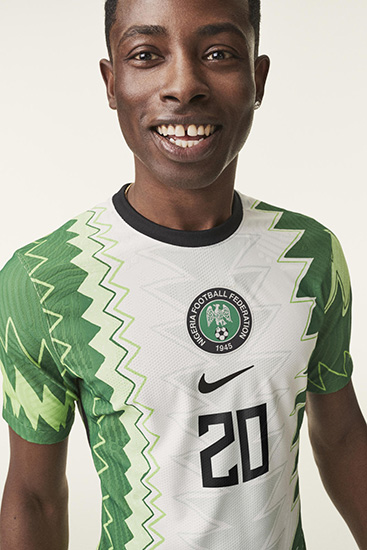 Soccer player wearing 2020 Nike Football kits